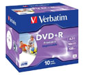 Компакт диск DVD+R 4.7Gb Verbatim Printable16x (Jewelbox)