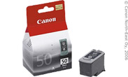 Картридж Canon черный PG-50 [ 0616B001 ] (до 300 стр, для PIXMA iP2200 MP150/160/170/180/450/460 MX300/310 FAX-JX200/210/500/510)